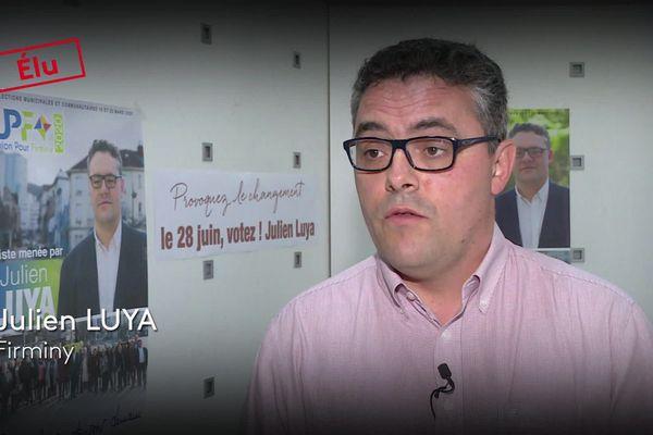 Julien Luya est élu maire de Firminy le 28 juin 2020