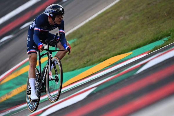 """Rémi Cavagna, le """"TGV de Clermont-Ferrand"""", arrive 7ème du classement des mondiaux de cyclisme sur route au contre-la-montre, en Italie."""