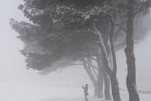 De la neige en France (illustration)