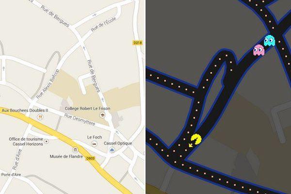 Une petite partie de Pacman dans les rues de Cassel ?