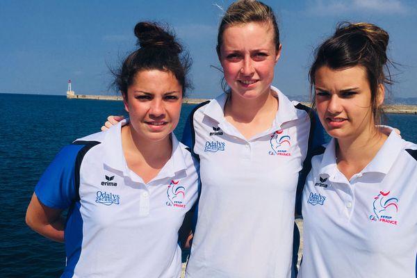 La triplette Alison Rodriguez, Caroline Bourriaud et Céline Lebossé