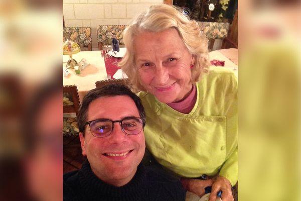 Thibaut et Annie Desvignes, cheffe doublement étoilée de la Tour du Roy, à Vervins