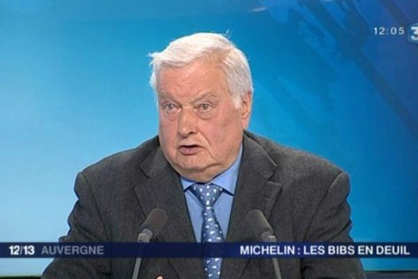 Serge Godard, invité du journal de France 3 Auvergne le 30 avril, a rendu hommage à François Michelin. Le maire socialiste de Clermont-Ferrand de 1997 à 2014 a côtoyé durant son mandat le patron de la multinationale clermontoise.