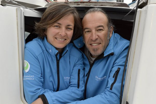 Stéphanie Jadaud et Tolga Ekrem Pamir, couple dans la vie et à la mer dans cette Transat AG2R 2016