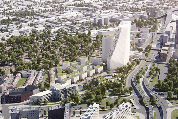 La tour du futur siège de la MEL