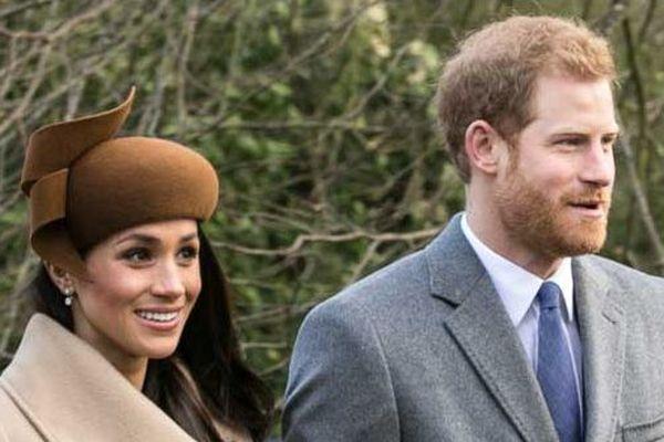 Méghan Markle et le Prince Harrry à Windsor le 25 décembre 2017