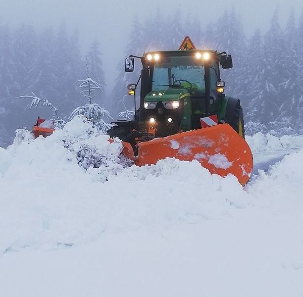 Importantes chutes de neige ce matin à Meymac