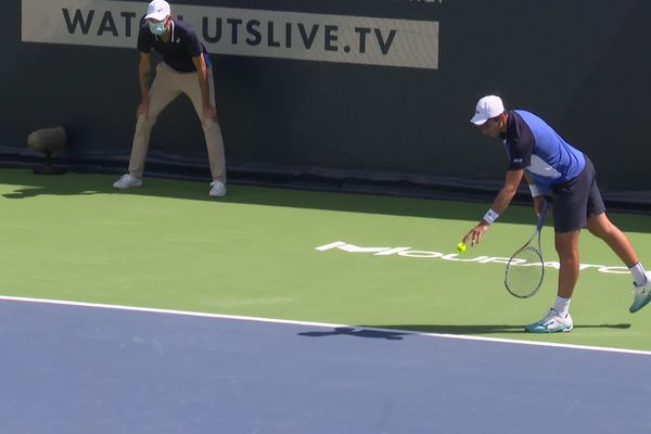 Le premier tournoi Ultimate Tennis Showdown se déroule jusqu'au 12 juillet à la Mouratoglou Academy à Biot.