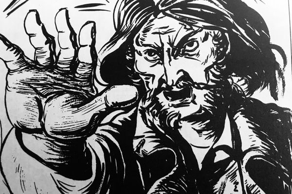 Une image extraite de la bande dessinée de Georges Begon consacrée à la vie du bandit de grand chemin Victor Mornac, dont l'évocation de son nom suscitait la terreur dans toute l'Auvergne.