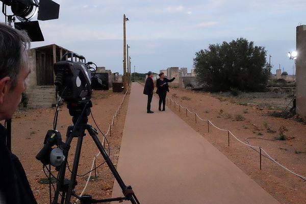 Tournage de l'émission spéciale sur l'ouverture du Mémorial de Rivesaltes