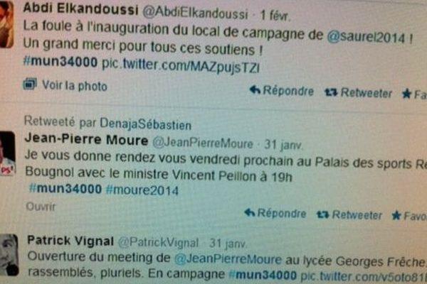 Capture d'écran sur twitter #mun 34000