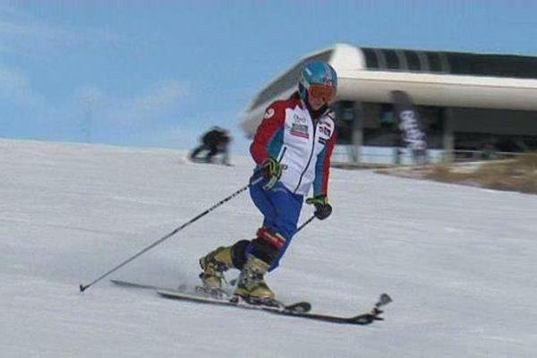 Maëlle Froissard, à l'entraînement dans les Hautes-Alpes avant le championnat de France à Vars.