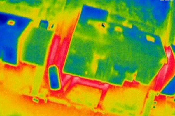 Image thermographique d'une maison