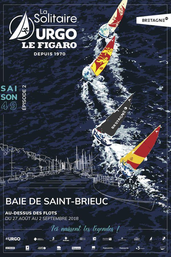 L'affiche officielle de la 1ère étape de la 49e édition de la Solitaire Urgo Le Figaro.
