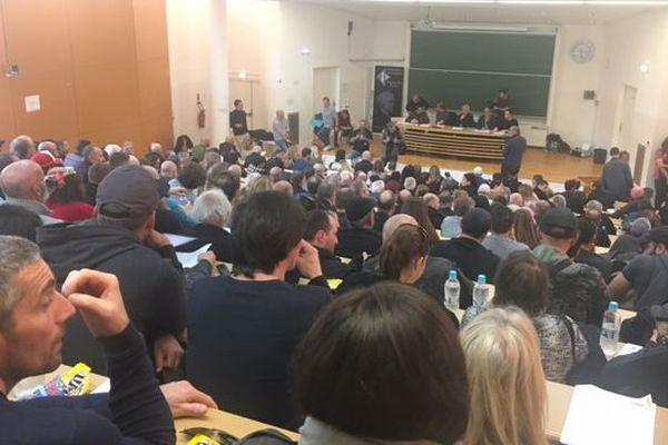 L'assemblée générale de Corsica Libera s'est tenue à huis clos à l'université de Corse le 15 avril 2018.