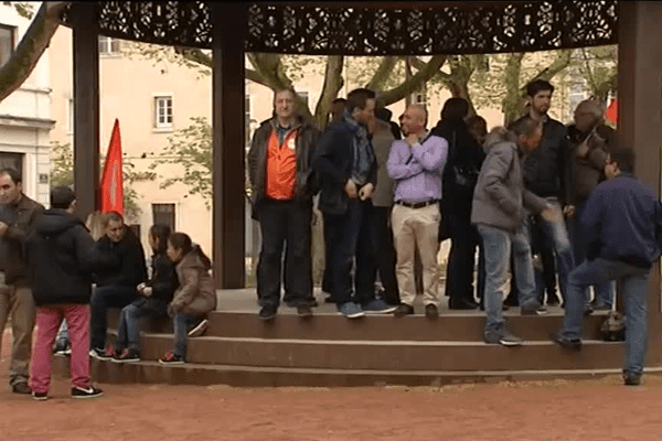Vendredi, les salariés s'étaient réunis devant la sous-préfecture de Villefranche-sur-Saône.