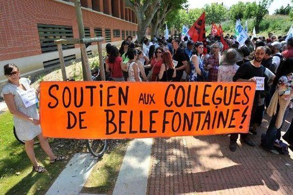 De nombreux professeurs ont manifesté leur soutien à leurs collègues de Bellefontaine