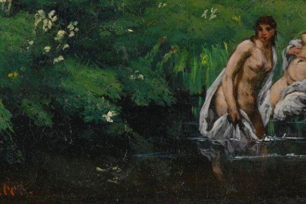 Gustave Courbet. Les baigneuses dans la forêt, 1862. Détail