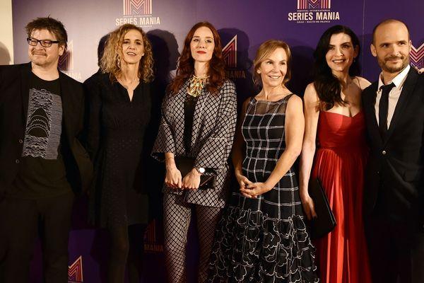 Daniel Grou, Delphine De Vigan, Audrey Fleurot, la présidente du jury Marti Noxon, Juliana Margulies et Thomas Lilti.