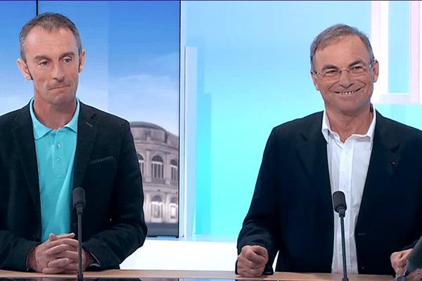 J-1 avant le Tour de Bretagne : Christophe Fossani et Bernard Hinault sur le plateau du France 3 Bretagne