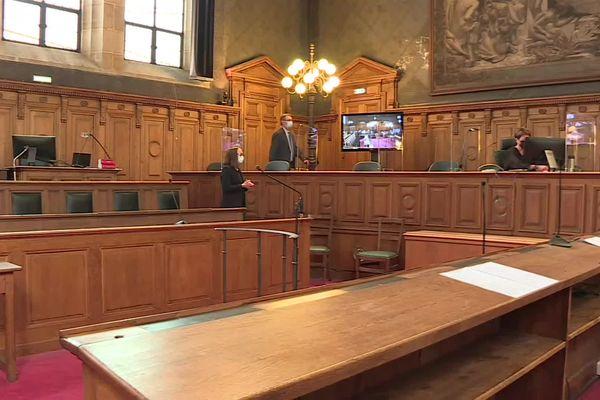 La cour d'assises de Dijon (Côte-d'Or), le 3 mai 2021