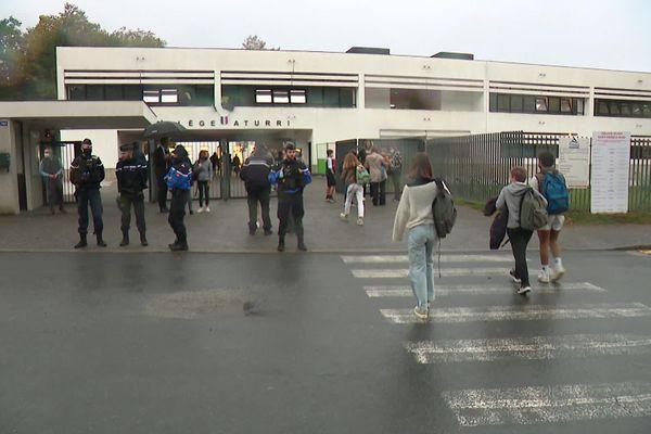 Les élèves qui le souhaitaient ont repris le chemin du collège ce vendredi / © France 3 Euskal Herri