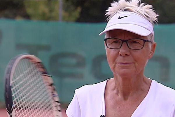 A 75 ans, Brigitte Godfroid est championne de France de tennis
