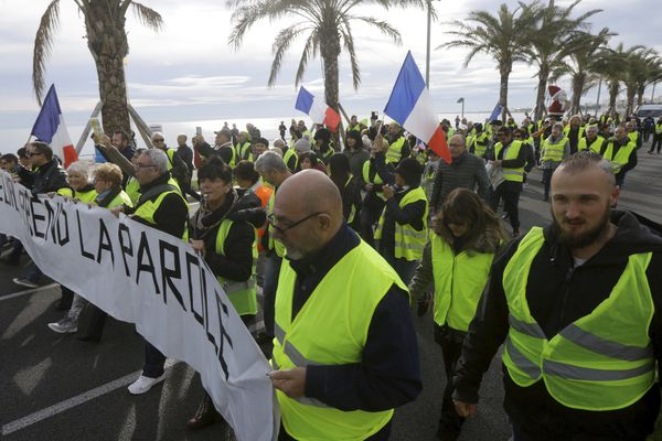 Manifestation à Nice des Gilets Jaunes
