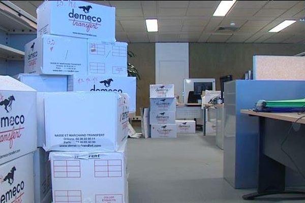 Une partie du personnel du Conseil général du Rhône déménage : leurs cartons arrivent dans les locaux de la Métropole de Lyon... 5/1/15