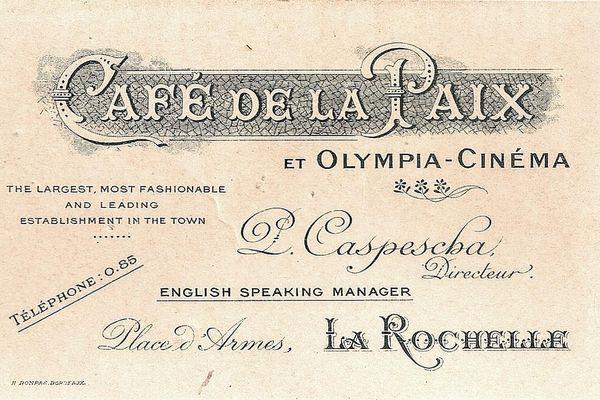 L'Olympia date de 1913, c'est le plus vieux cinéma de La Rochelle.