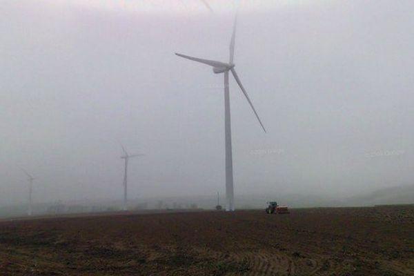 Les éoliennes de Boubers-sur-Canche.