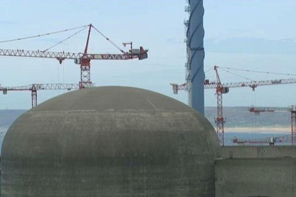 Le chantier EPR, à Flamanville, dans la Manche