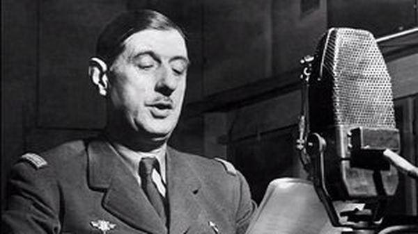 Le général de Gaulle au micro de la BBC.