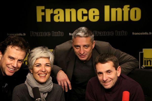 De gauche à droite : Philippe Vandel, Fabienne Sintes, Jean-François Achilli et Guy Birenbaum.
