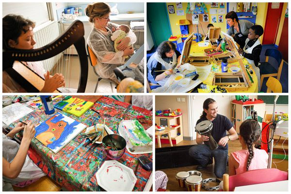 Quinze ateliers sont animés pour les enfants et les adolescents toutes les semaines.