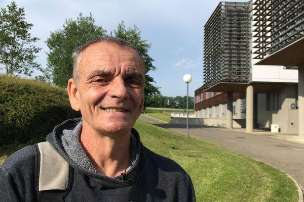 Etienne Jacob, plus vieux candidat au bac en Alsace en 2018.