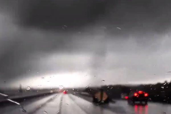 Image extraite de la vidéo publiée par les Nordistes de passage dans l'Hérault