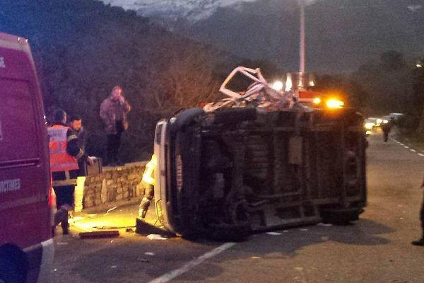 20/01/17 - Deux blessés dans un accident entre un chasse-neige et une camionnette commune de Campitello (Haute-Corse)