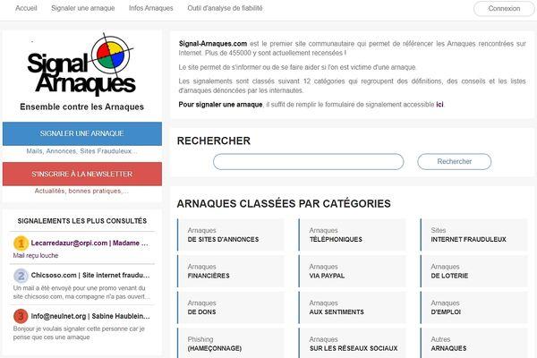 """Signal Arnaques.com regroupent les signalements des internautes."