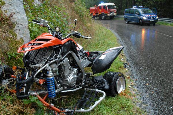 Un accident de quad en Alsace. Photo d'illustration.