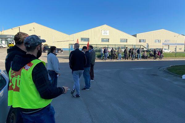 Plus de 25 employés de la société ATS se sont mis en grève le 31 mars 2021 en soutien à leur collègue, licencié pour faute grave, à Sézanne.