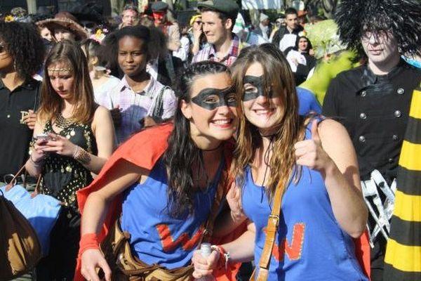 Des super-héros au carnaval des étudiants de Caen, 10 avril 2014