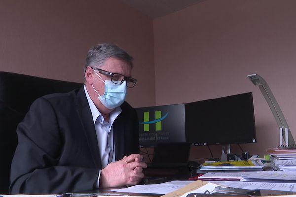 Michel Thumerelle, directeur du centre hospitalier de Saint-Amand-les-Eaux, qui gère quatre Ehpad.