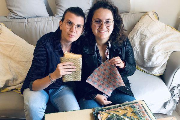 Alizée Ségard et Éva Biscaïno ont fondé Habebee Wrap il y a à peine quelques mois mais elles espèrent déjà en faire leur activité principale à l'avenir.