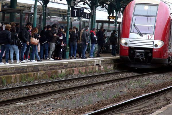 Peu de TER circulent en Lorraine depuis le début du mouvement de grève, le 5 décembre 2019.