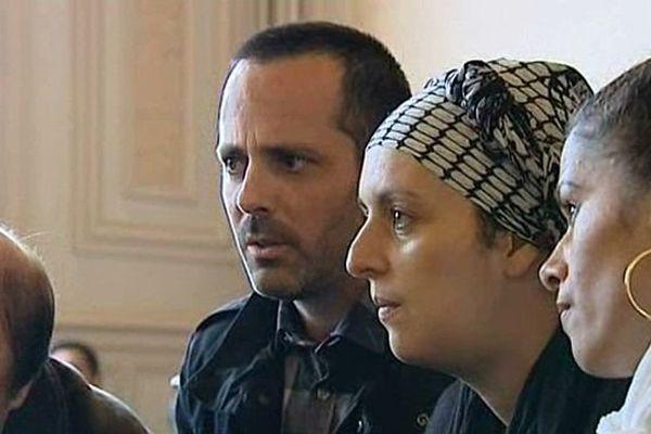Marc et Samia Larère au tribunal correctionnel d'Auxerre en octobre 2014