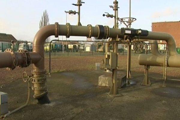 Exploitation du gaz de couche en Nord Pas-de-Calais par l'entreprise Gazonor.