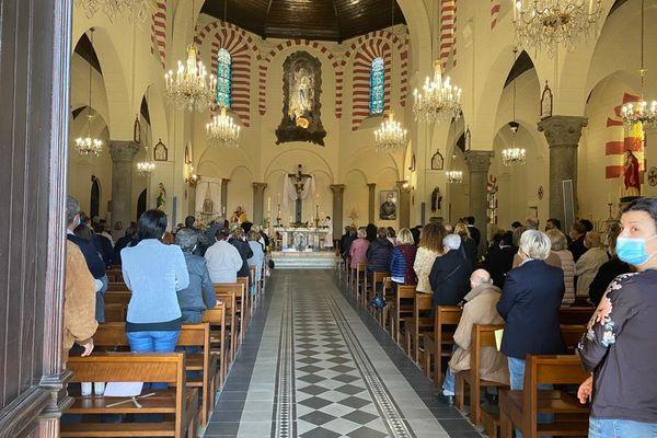 La messe ce dimanche 4 avril à l'église Notre Dame de Lourdes.