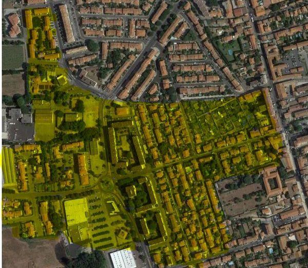 Perpignan - zone d'influence du collectif de la résidence des oiseaux dans le quartier du Vernet - 2021.