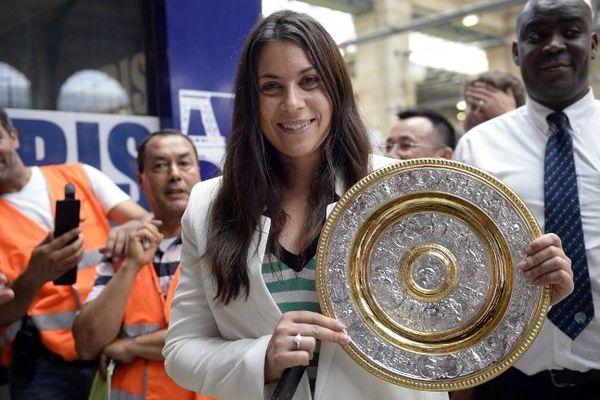 Marion Bartoli est rentrée en France, le 9 juillet, soit trois jours après sa victoire en finale du tournoi de Wimbledon sur l'Allemande Lisicki, 6/1 6/4.
